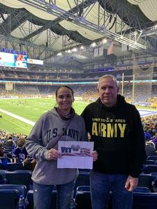 Tiffany attended Quick Lane Bowl: Minnesota vs. Georgia Tech - NCAA on Dec 26th 2018 via VetTix