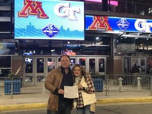 Michael attended Quick Lane Bowl: Minnesota vs. Georgia Tech - NCAA on Dec 26th 2018 via VetTix