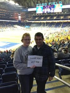 Catherine attended Quick Lane Bowl: Minnesota vs. Georgia Tech - NCAA on Dec 26th 2018 via VetTix