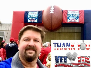 SSGT IVES attended 2018 Holiday Bowl - Northwestern vs. Utah - NCAA Football 12-31-2018 on Dec 31st 2018 via VetTix