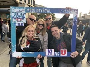 Stephanie attended 2018 Holiday Bowl - Northwestern vs. Utah - NCAA Football 12-31-2018 on Dec 31st 2018 via VetTix
