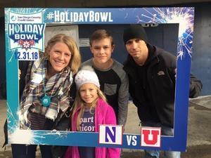 nick attended 2018 Holiday Bowl - Northwestern vs. Utah - NCAA Football 12-31-2018 on Dec 31st 2018 via VetTix