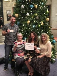 Lorinda attended A Christmas Carol on Dec 20th 2018 via VetTix