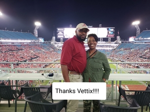 Marjorie attended 2018 Taxslayer Gator Bowl on Dec 31st 2018 via VetTix