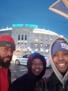 Aubrey attended 2018 Pinstripe Bowl on Dec 27th 2018 via VetTix