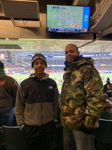 Nakia attended 2018 Pinstripe Bowl on Dec 27th 2018 via VetTix