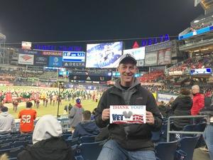 Troy attended 2018 Pinstripe Bowl on Dec 27th 2018 via VetTix