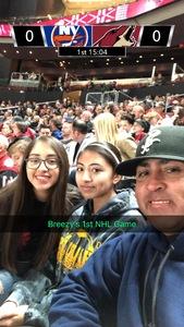 Luis Ortiz attended Arizona Coyotes vs. New York Islanders - NHL on Dec 18th 2018 via VetTix