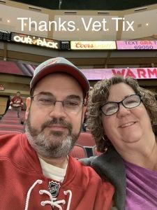 Jeffrey attended Arizona Coyotes vs. New York Islanders - NHL on Dec 18th 2018 via VetTix