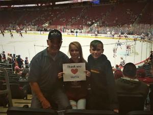 Steven attended Arizona Coyotes vs. New York Islanders - NHL on Dec 18th 2018 via VetTix