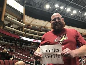 Chad attended Arizona Coyotes vs. New York Islanders - NHL on Dec 18th 2018 via VetTix