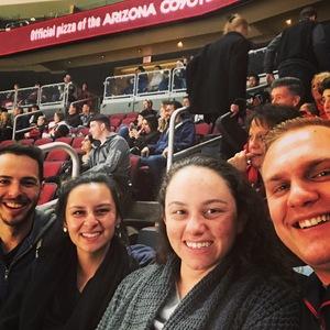 Drew attended Arizona Coyotes vs. New York Islanders - NHL on Dec 18th 2018 via VetTix