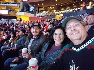 Charles attended Arizona Coyotes vs. New York Islanders - NHL on Dec 18th 2018 via VetTix