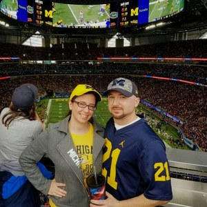 James attended 2018 Chick-fil-a Peach Bowl - Florida Gators vs. Michigan Wolverines - NCAA Football on Dec 29th 2018 via VetTix