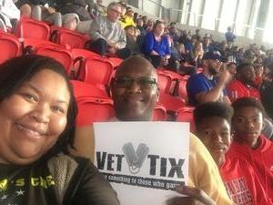 LaKesha attended 2018 Chick-fil-a Peach Bowl - Florida Gators vs. Michigan Wolverines - NCAA Football on Dec 29th 2018 via VetTix