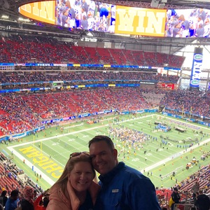Thomas attended 2018 Chick-fil-a Peach Bowl - Florida Gators vs. Michigan Wolverines - NCAA Football on Dec 29th 2018 via VetTix