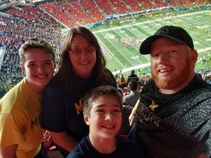 John attended 2018 Chick-fil-a Peach Bowl - Florida Gators vs. Michigan Wolverines - NCAA Football on Dec 29th 2018 via VetTix