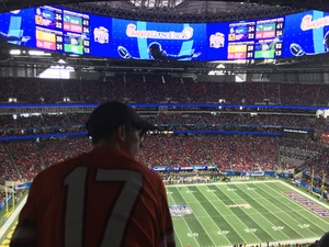 Brandon attended 2018 Chick-fil-a Peach Bowl - Florida Gators vs. Michigan Wolverines - NCAA Football on Dec 29th 2018 via VetTix