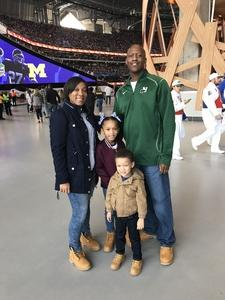 Catina attended 2018 Chick-fil-a Peach Bowl - Florida Gators vs. Michigan Wolverines - NCAA Football on Dec 29th 2018 via VetTix