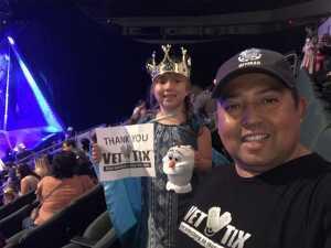 BMC Juan Ortiz  attended Disney on Ice Presents Frozen! on May 8th 2019 via VetTix