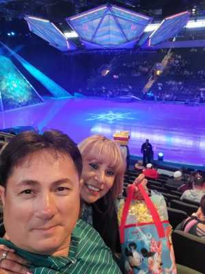 Lee attended Disney on Ice Presents Frozen! on May 8th 2019 via VetTix