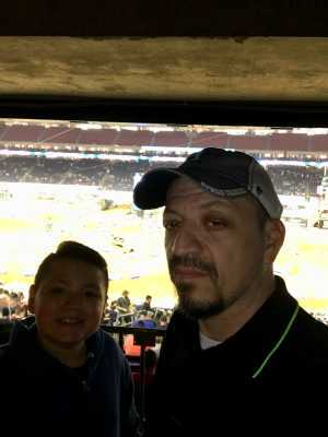 Richard attended Monster Energy Supercross on Mar 30th 2019 via VetTix