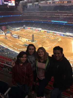 Robert attended Monster Energy Supercross on Mar 30th 2019 via VetTix