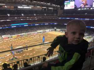 Garrett attended Monster Energy Supercross on Mar 30th 2019 via VetTix