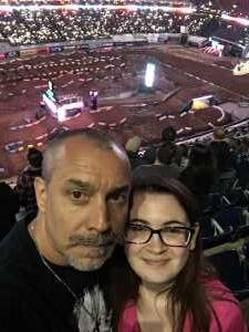 Scott Adler AF Vet!! attended Monster Energy Supercross on Mar 30th 2019 via VetTix