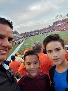 gilberto attended Camping World Bowl - Syracuse vs. West Virginia on Dec 28th 2018 via VetTix