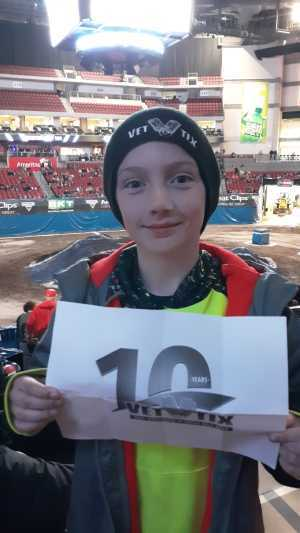 Jonathan attended Monster Jam on Mar 29th 2019 via VetTix