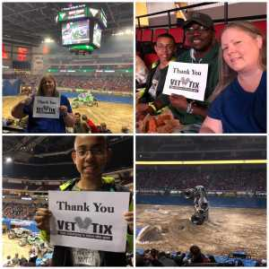 Kimberly attended Monster Jam on Mar 29th 2019 via VetTix