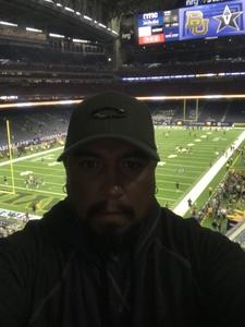 Fernando attended Academy Sports and Outdoors Texas Bowl - Baylor vs. Vanderbilt - NCAA Football on Dec 27th 2018 via VetTix