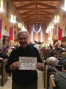 Joe attended Silent Night: a WWI Memorial in Song - Phoenix Performance on Jan 9th 2019 via VetTix