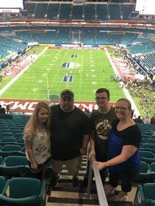 jacob attended 2018 Capital One Orange Bowl - Oklahoma Sooners vs. Alabama Crimson Tide - College Football Playoffs Semifinal Game on Dec 29th 2018 via VetTix