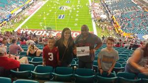 Travis attended 2018 Capital One Orange Bowl - Oklahoma Sooners vs. Alabama Crimson Tide - College Football Playoffs Semifinal Game on Dec 29th 2018 via VetTix