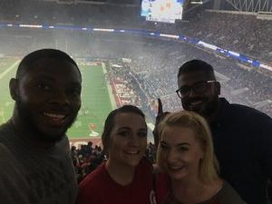 Danielle attended 2018 Capital One Orange Bowl - Oklahoma Sooners vs. Alabama Crimson Tide - College Football Playoffs Semifinal Game on Dec 29th 2018 via VetTix
