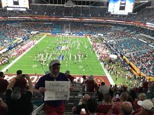 Francis attended 2018 Capital One Orange Bowl - Oklahoma Sooners vs. Alabama Crimson Tide - College Football Playoffs Semifinal Game on Dec 29th 2018 via VetTix
