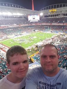 Jason attended 2018 Capital One Orange Bowl - Oklahoma Sooners vs. Alabama Crimson Tide - College Football Playoffs Semifinal Game on Dec 29th 2018 via VetTix
