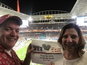 Paul attended 2018 Capital One Orange Bowl - Oklahoma Sooners vs. Alabama Crimson Tide - College Football Playoffs Semifinal Game on Dec 29th 2018 via VetTix