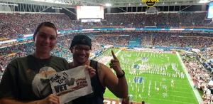 Ricardo attended 2018 Capital One Orange Bowl - Oklahoma Sooners vs. Alabama Crimson Tide - College Football Playoffs Semifinal Game on Dec 29th 2018 via VetTix