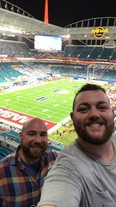 Kevin attended 2018 Capital One Orange Bowl - Oklahoma Sooners vs. Alabama Crimson Tide - College Football Playoffs Semifinal Game on Dec 29th 2018 via VetTix