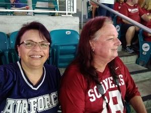 Elizabeth attended 2018 Capital One Orange Bowl - Oklahoma Sooners vs. Alabama Crimson Tide - College Football Playoffs Semifinal Game on Dec 29th 2018 via VetTix