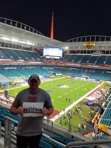 Nathan attended 2018 Capital One Orange Bowl - Oklahoma Sooners vs. Alabama Crimson Tide - College Football Playoffs Semifinal Game on Dec 29th 2018 via VetTix