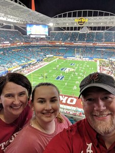 Christopher attended 2018 Capital One Orange Bowl - Oklahoma Sooners vs. Alabama Crimson Tide - College Football Playoffs Semifinal Game on Dec 29th 2018 via VetTix