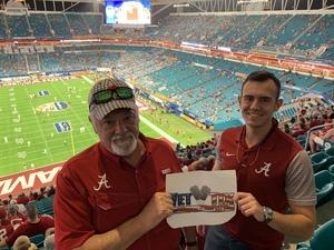 Elderfield Family attended 2018 Capital One Orange Bowl - Oklahoma Sooners vs. Alabama Crimson Tide - College Football Playoffs Semifinal Game on Dec 29th 2018 via VetTix