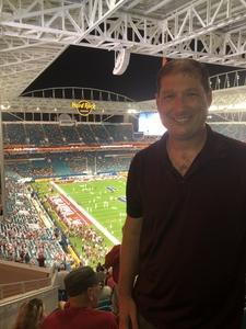 Ryan attended 2018 Capital One Orange Bowl - Oklahoma Sooners vs. Alabama Crimson Tide - College Football Playoffs Semifinal Game on Dec 29th 2018 via VetTix