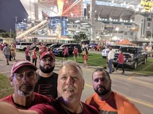 Brian attended 2018 Capital One Orange Bowl - Oklahoma Sooners vs. Alabama Crimson Tide - College Football Playoffs Semifinal Game on Dec 29th 2018 via VetTix