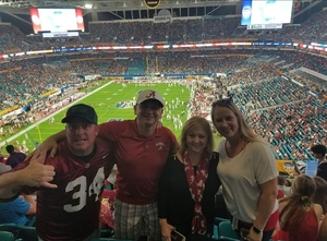 Jonathan attended 2018 Capital One Orange Bowl - Oklahoma Sooners vs. Alabama Crimson Tide - College Football Playoffs Semifinal Game on Dec 29th 2018 via VetTix