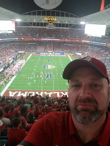 Sonja attended 2018 Capital One Orange Bowl - Oklahoma Sooners vs. Alabama Crimson Tide - College Football Playoffs Semifinal Game on Dec 29th 2018 via VetTix